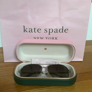 Kate Spade Varese Aviator Style Gold Sunglasses